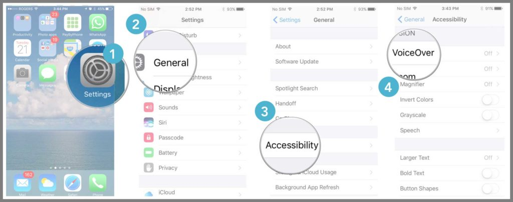 VoiceOver on iPhone and iPad - Developmental Disabilities
